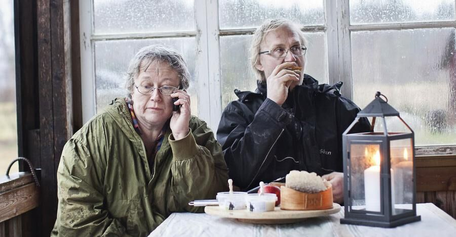 Anna-Karin Gidlund och maken Sören Östman på Gide Get i Djuptjärn. Foto: Elin Söderström.