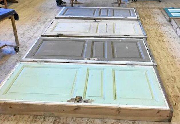 De gamla spegeldörrarna har varsamt restaurerats under projektets gång.
