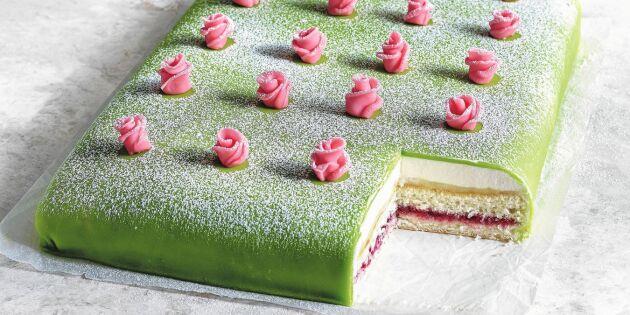 Baka saftig prinsesstårta i långpanna – så smart!
