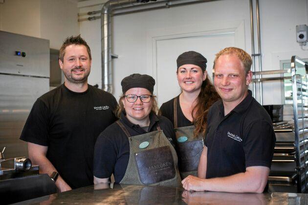 """""""Från hage till mage"""" är devisen för dessa fyra delägare och matentusiaster, Henrik, Isabelle, Ida och Markus."""