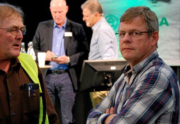 Göran Örlander, längst till höger, är skogstrateg på Södra och kritisk mot de digitala publiceringarna av avverkningsanmälningar.