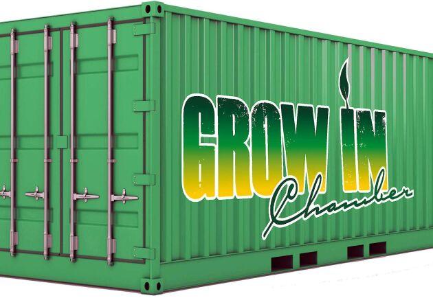 Grow In Chamber är en sluten växtkammare i en container. På Grow Ins hemsida kan du boka in ett besök på demoanläggningen.