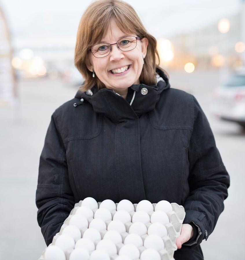 En karta med ägg blev det för Cathrine Gustavsson denna vecka.