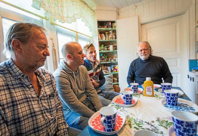 Jan Jansson, Tommy Jansson, Christian Jansson och Stellan Björk ser fram mot att processen ska prövas av Europadomstolen.