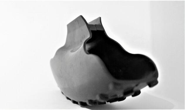 Broddarna är gjorda av naturgummi – samma material som bildäck.
