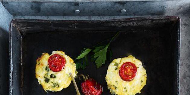 Matmuffins med fetaost och persilja