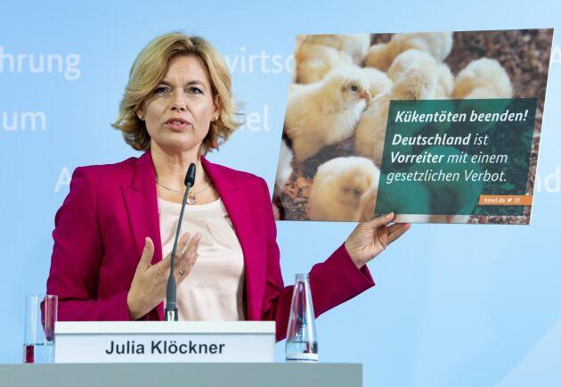 Julia Klöckner presenterar sitt lagförslag på en presskonferens den 9 september 2020.