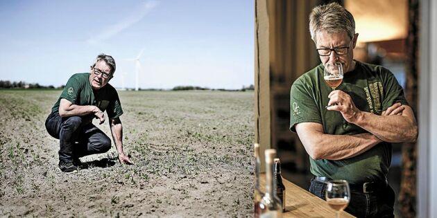 Råvaran till prisbelönta Qvänums öl växer – på grannens fält!