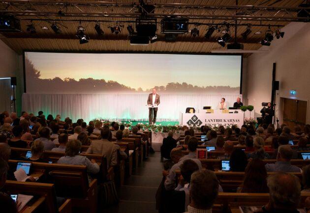Anders Källström stod på tisdagen, efter tio år på VD-posten, på LRF-scenen för sista gången.