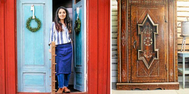 Nicole flyttade till Byske från Chile – och driver möbelverkstad på den gamla gården!