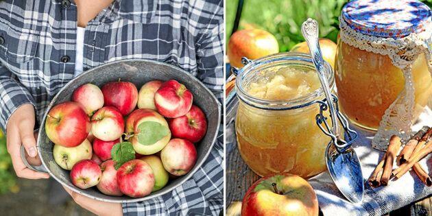 Äppelmos de luxe med smak av vanilj och kanel