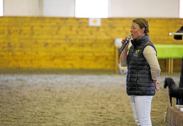 Annethe Yng var mötesledare under evenemanget Skånsk hästnäringsdag.