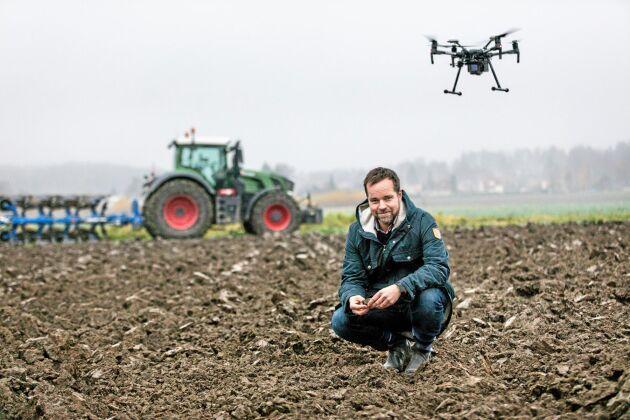 Jonas Engström, projektledare för RISE testbädd för digitaliserat jordbruk.