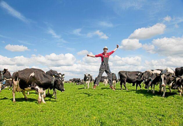 En ny undersökning visar att lantbrukare i Europa är gladare och oroar sig mindre över framtiden.