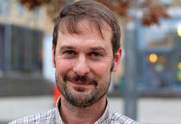 Petter Ström lantbrukare och affärsområdeschef på HS konsult i Västmanland och en av talarna på Jordbruksverkets konferens om Jordbrukets vattenhushållning i ett föränderligt klimat.