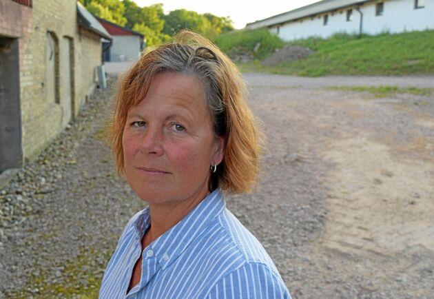 Åsa Odell, vice ordförande förbundet, räknar med att skördebortfallet i år blir mellan 5 och 8 miljarder kronor.