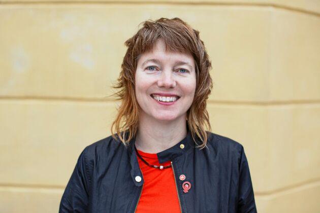 Malin Björk (V), kandidat till EU-parlamentet.