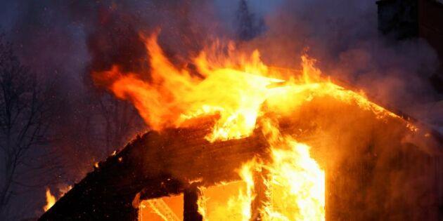 Frölager nedbrunna – misstänkt mordbrand