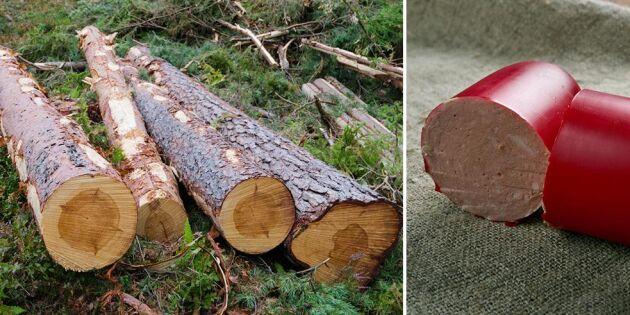 Domsjö gör korvskinn av trä