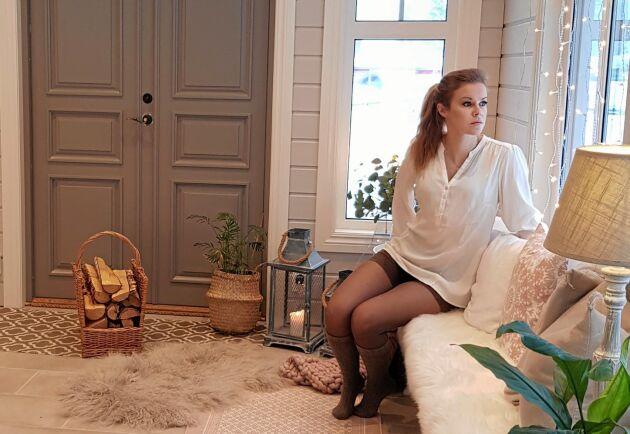 Helena Löfstedt bor 1,5 mil utanför den västerbottniska orten Bjurholm.