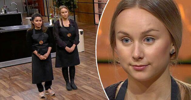 """Den 21-åriga grisbonden Emilia Nilsson åkte ut i semifinalen: """"Jag tänkte att det fick bära eller brista"""", säger hon."""