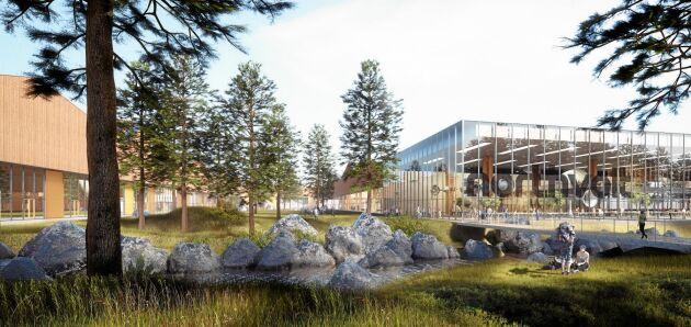 Planen. Så här är Northvolts batterifabrik i Skellefteå tänkt att se ut.