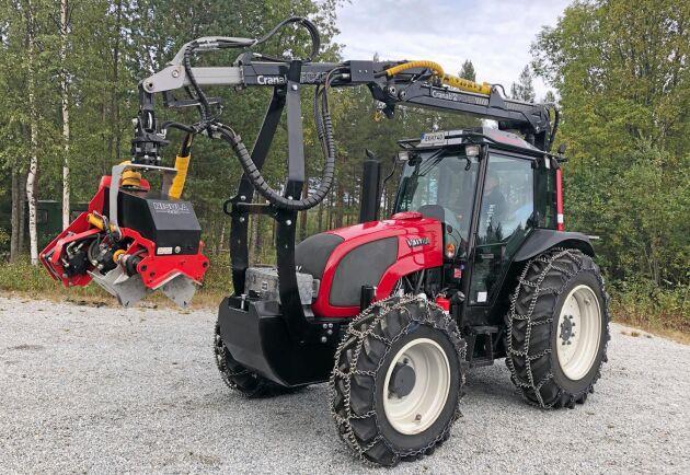 Nyare skogsutrustade traktorer går hem på begagnatmarknaden.