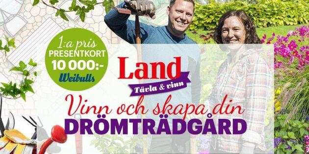 AVSLUTAD: Vinn din drömträdgård – värde 10 000 kronor