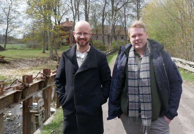 Fredrik Olsson och Gustav Thell - ägare till Västlands gård.