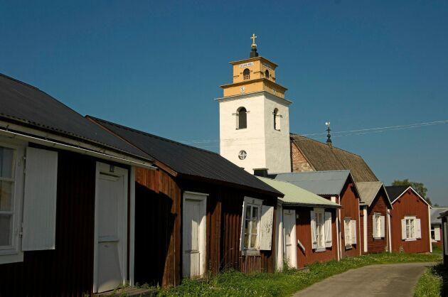 Gammelstads kyrkstad utanför Luleå i Norrbotten.