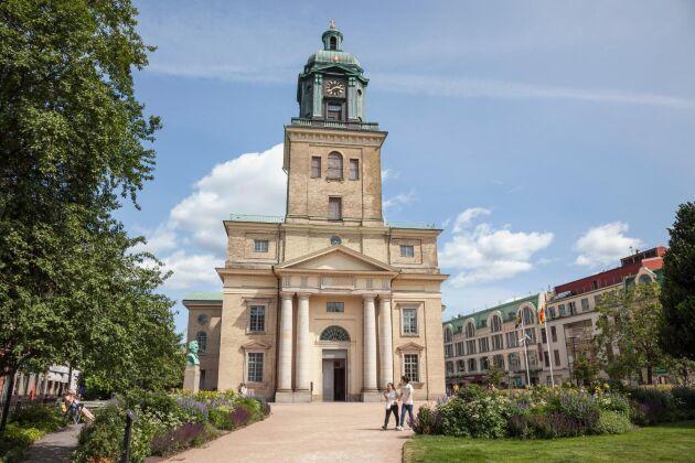 Domkyrkan i Göteborg. Göteborgs stift omfattar geografiskt landskapen Bohuslän och Halland samt de södra och västra delarna av Västergötland.