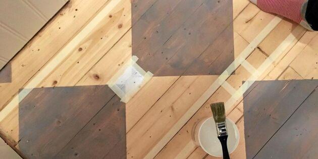 Så målar du rutor på trägolvet – enklare än du tror!