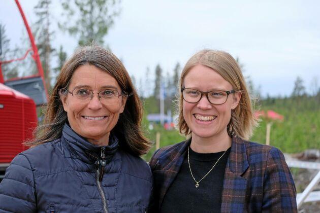 Skogsindustriernas VD Carina Håkansson och Kristina Yngwe (C), ordförande för miljö- och jordbruksutskottet invigningstalade på Skogsnolia 2019.
