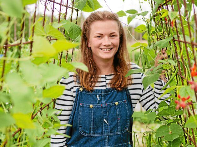 Sara May Kahl är lycklig över sitt nya gröna liv på släktgården Glamsarvet, utanför Falun.