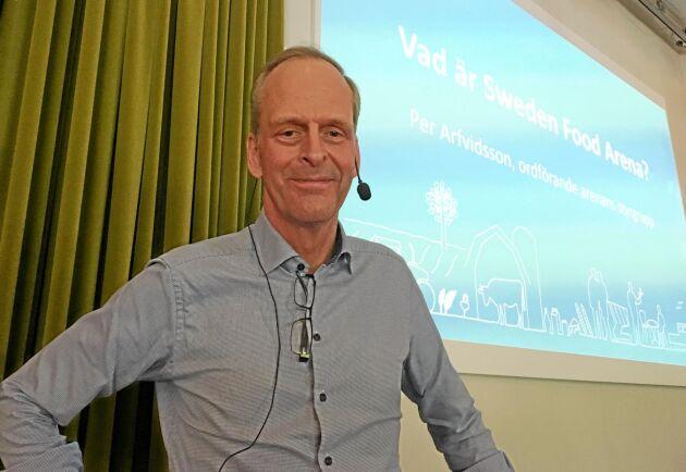 Per Arfvidsson, vice vd i Lantmännen och ordförande i styrgruppen för Sweden Food Arena.