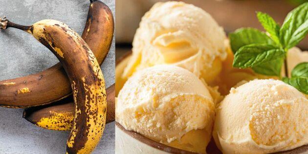 Så gör du krämig bananglass – enkelt och billigt