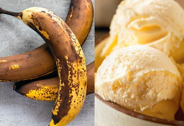 Ta vara på bruna bananer och gör underbart god glass i stället för att slänga.