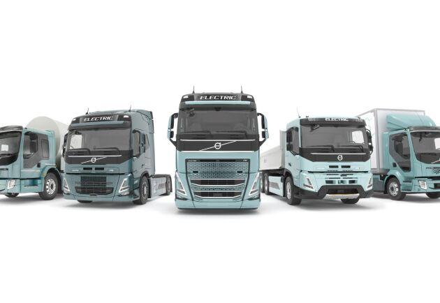 Hela Volvos lastbilsflotta ska finnas med helelektriska drivlinor inom något mår.