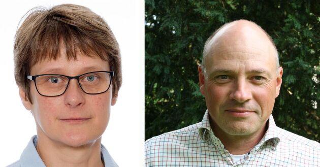 Liv Åkerblom Espeby på Kemikalieinspektionen och Rikard Andersson, ogräsexpert på Växtskyddscentralen i Alnarp.