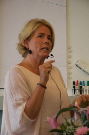 Åsa Bihl, kommunikationschef på Skogsindustrierna, som på KSLA-mötet representerade Svensk Skogskommunikation AB