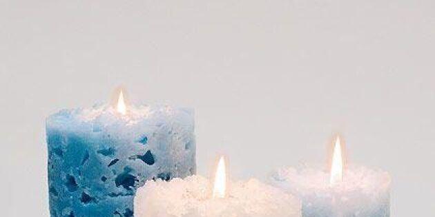 Gjut ett skirt ljus av isbitar och ljusstumpar