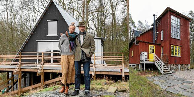 Hemma hos hantverkarparet Lina & Fredrik är nästan allt gjort för hand!