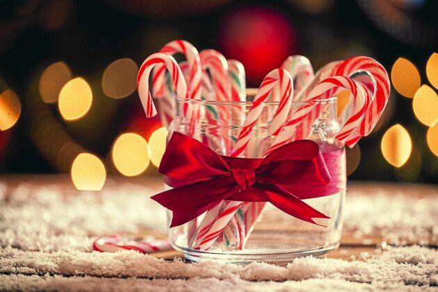 Ge bort hemgjorda polkagrisar i julklapp eller förgyll det egna gottbordet.