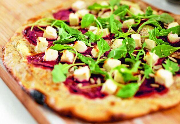 Pizzan blir inte bara god, den blir snygg också!