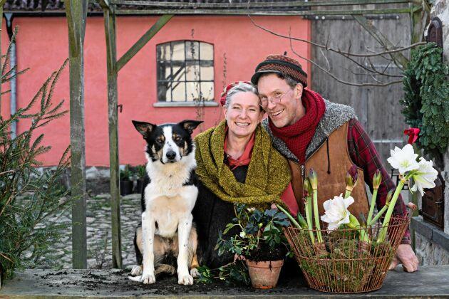 Marie och Gustav Mandelmann bjuder in till julförberedelser på sin gård i TV4 2019.