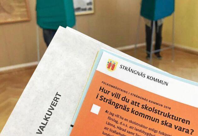 Fyra av landets kommuner höll folkomröstning i samband med valet den 9 september.