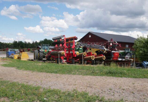 På Resebro gård bedrivs spannmålsodling på drygt 500 hektar.