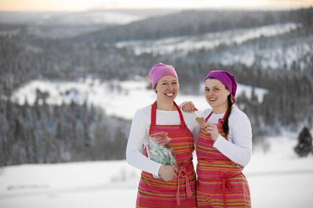 Fjällgodis! Madeleine är fröken och Ulrika är fru och, därav företagsnamnet Fru Fröken Karamell som skickar ut sitt jämtländska godis till återförsäljare i hela lande