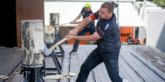 Svenskarna ska hugga i på Timbersport-VM