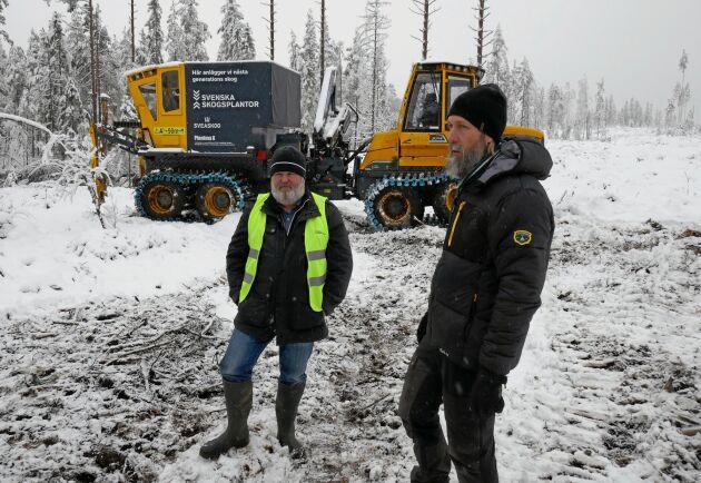 """""""Vi är positivt överraskade över resultatet"""", säger Michael Wallberg, till vänster, om provkörningen av nya Plantma X. Till Höger Joakim Eckerström, VD på Plantma AB."""